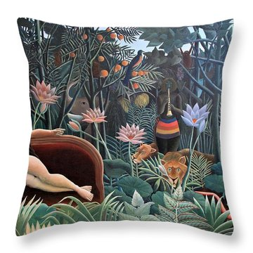 Henri Rousseau The Dream 1910 Throw Pillow