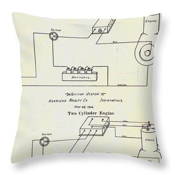 Henrichs Magnetos 1906 No.1 Throw Pillow