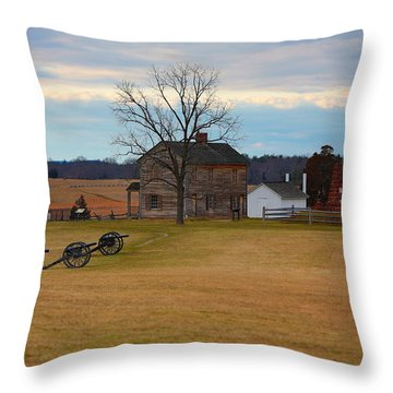 Henry House At Manassas Va Throw Pillow