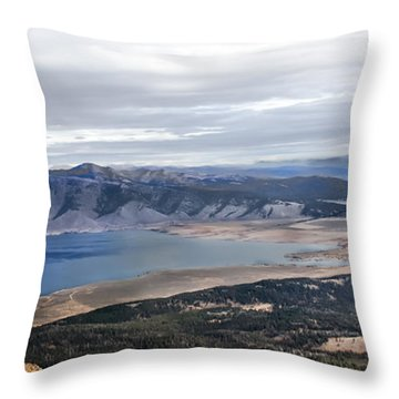 Henry Lake Throw Pillow by Robert Bales