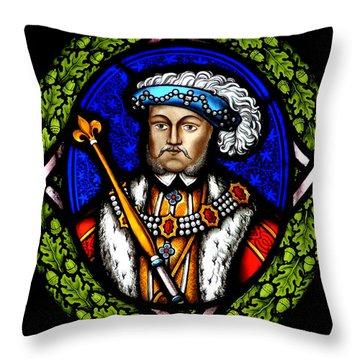 Henry Viii Throw Pillow