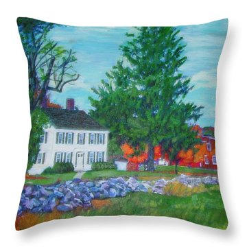 Henry Warren House And Barn Throw Pillow