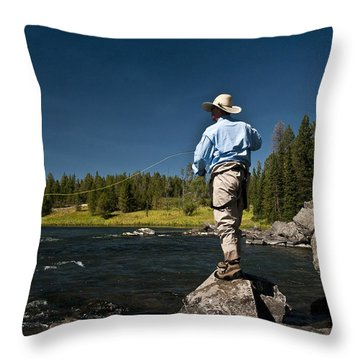 Henry's Fork Throw Pillow