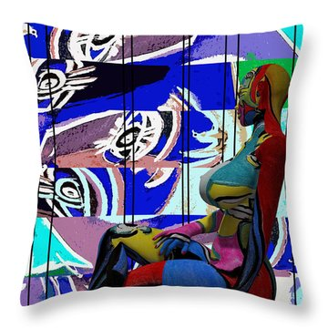 Her Abstract Journey Throw Pillow