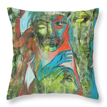 Her Avatars Throw Pillow by Floria Varnoos