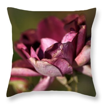 Her Beauty Of Age Throw Pillow by Joy Watson