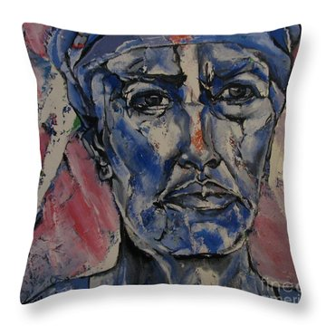 Her Convictions - Portriat Throw Pillow