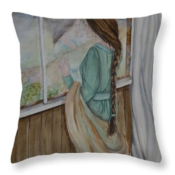 Her Dreams Are Out There Somewhere Throw Pillow by Kelly Mills