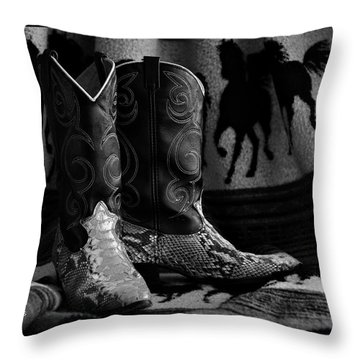 Her Favorite Pair Throw Pillow by Kenny Francis