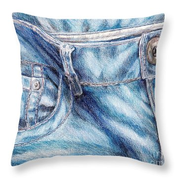 Her Favorite Pair Of Jeans Throw Pillow