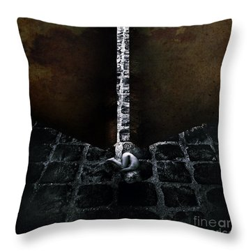 Her Fears Throw Pillow by Stelios Kleanthous