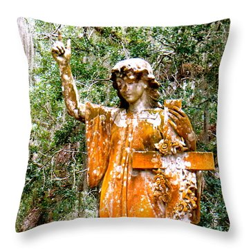 Throw Pillow featuring the photograph Her Guardian Angel by Joy Hardee