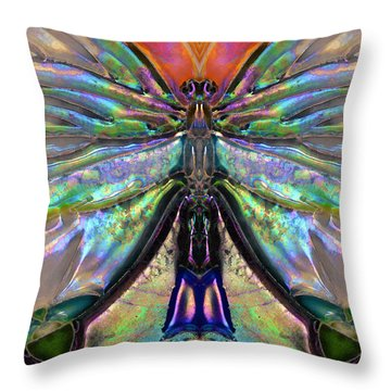 Her Heart Has Wings - Spiritual Art By Sharon Cummings Throw Pillow by Sharon Cummings