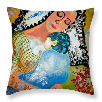Throw Pillow featuring the painting Her Love by Amy Sorrell