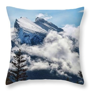 Her Majesty - Canada's Mount Rundle Throw Pillow