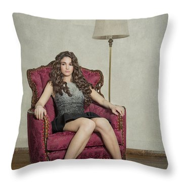 Her Majesty Throw Pillow