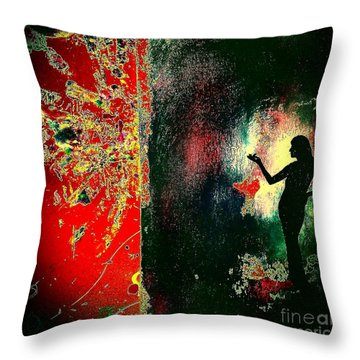 Her Power To Create Throw Pillow by Jacqueline McReynolds