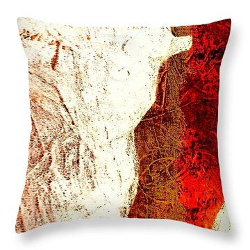 Her Red Silhouette Throw Pillow by Jacqueline McReynolds