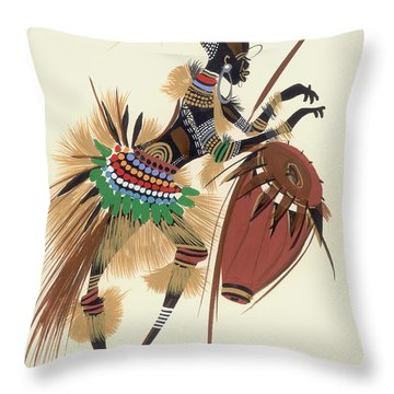Her Rhythm And Blues Throw Pillow
