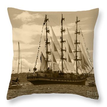 Her Russian Backside Pallada Throw Pillow by Kym Backland