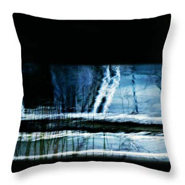 Her Watery Grave Throw Pillow by Theresa Tahara