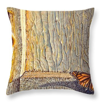 Her Wings Were Kissed By The Sun Throw Pillow