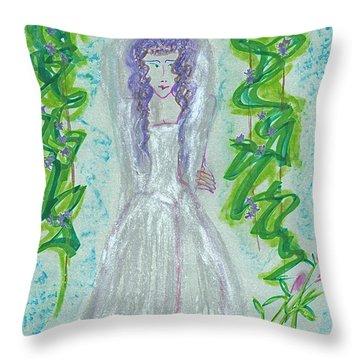 Hera Juno Throw Pillow by First Star Art
