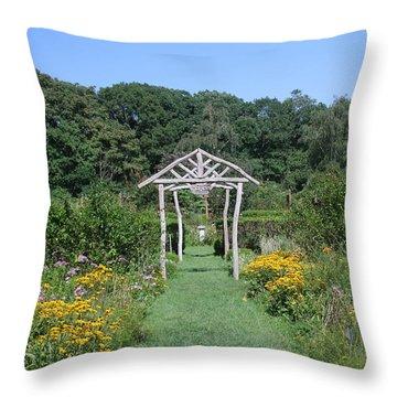 Throw Pillow featuring the photograph Herb Garden by Karen Silvestri