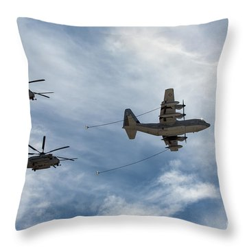 Hercules And Sea Stallions Throw Pillow