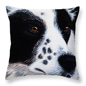 Herding Dog Throw Pillow