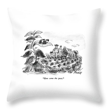 Here Come The Pests Throw Pillow