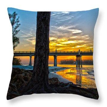 Here Comes Sunshine Throw Pillow