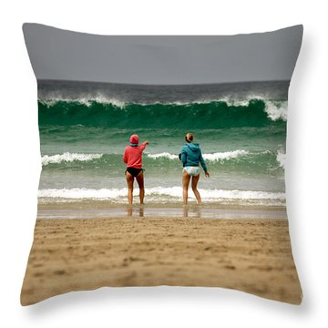 Throw Pillow featuring the photograph Here Comes The Big One by Terri Waters
