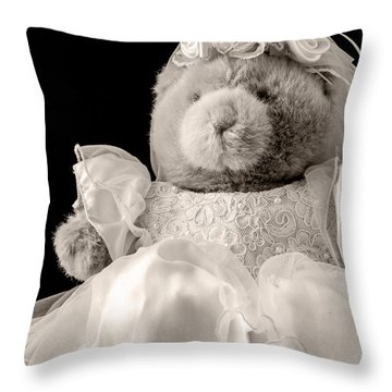 Here Comes The Bride Throw Pillow by Edward Fielding