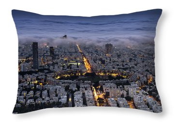 Here Comes The Fog  Throw Pillow by Ron Shoshani