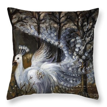 Here Comes The Mist Throw Pillow by Angel  Tarantella