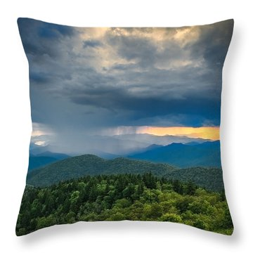 Throw Pillow featuring the photograph Here Comes The Rain by Joye Ardyn Durham