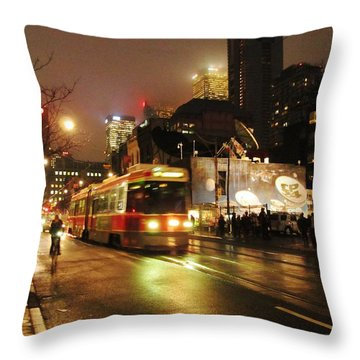 Here Comes The Streetcar Throw Pillow