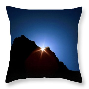 Here Comes The Sun Throw Pillow by Steven Reed