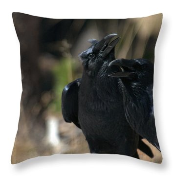 Here He Is Throw Pillow