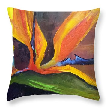 Here I Am Bird Of Paradise Throw Pillow