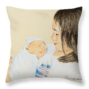 Here I Am Sister Throw Pillow