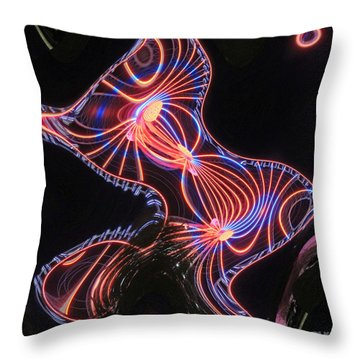 Here Kitty Throw Pillow by Marian Bell