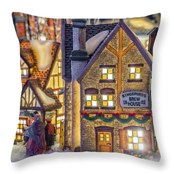 Here We Come A Caroling Throw Pillow by Caitlyn  Grasso