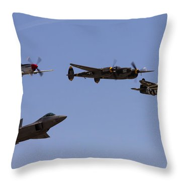 Heritage Flight Of Four Throw Pillow