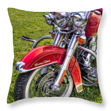 Heritage Softail Throw Pillow