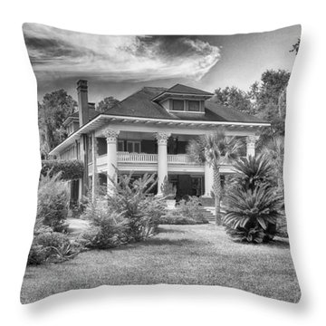 Herlong Mansion Throw Pillow by Howard Salmon