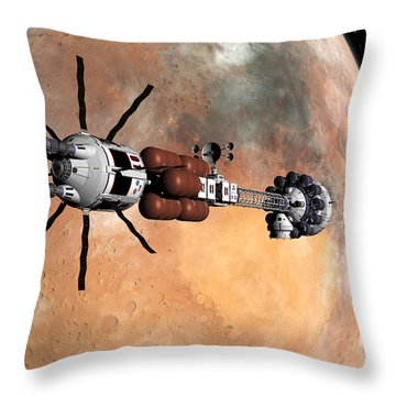 Hermes1 Mars Insertion Part 1 Throw Pillow