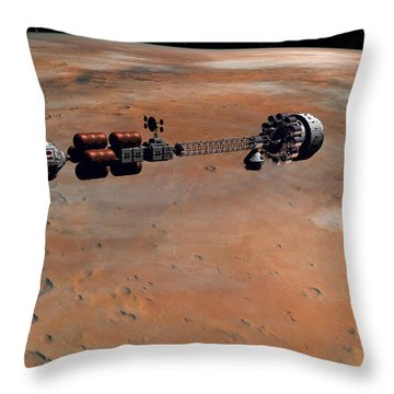 Hermes1 Orbiting Mars Throw Pillow