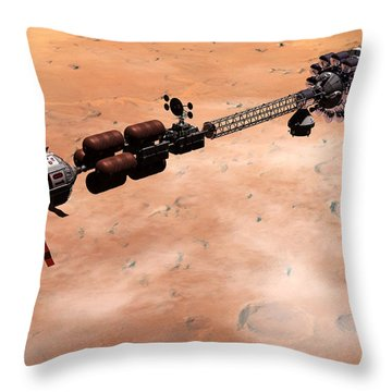 Hermes1 Over Mars Throw Pillow